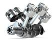 canvas print picture Crankshaft V6 engine