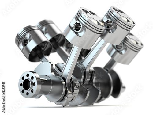 Kurbelwelle V6 Motor Fototapete