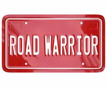 Road Warrior Words License Pla...