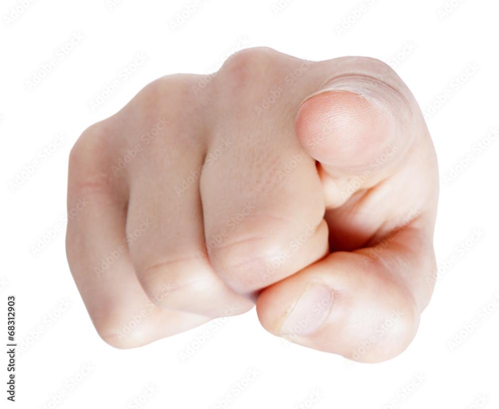 Obraz Hand pointing at you on white background fototapeta, plakat