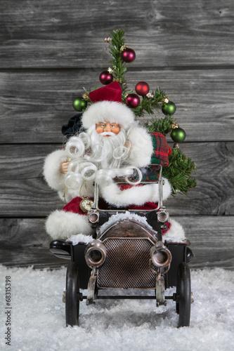 Weihnachtsbaum FüRs Auto Santa Claus mit Auto und Weihnachtsbaum   Nostalgie Deko   Buy
