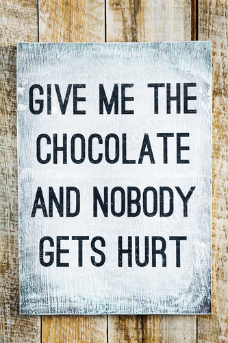 motivational wooden sign on rustic palette Chocolate Canvas Print