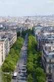 Fototapeta Paryż - Paryż widom z Łuku Triumfalnego maja 2014