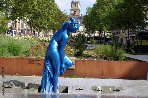 La baigneuse bleue Canvas Print