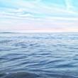 canvas print picture - Wasser im Meer vor Himmel