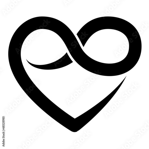 Infinity Heart Symbol Forever Vector Buy This Stock Vector And