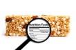Leinwandbild Motiv Nutrition facts