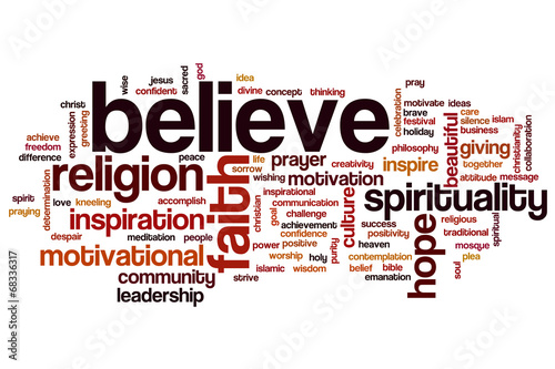 Photo  Believe word cloud