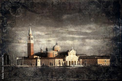 Fototapeta Kościół San Giorgio Maggiore w Wenecji styl retro obraz