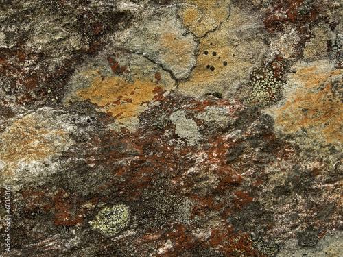 Fototapeten Natur Colourful rock
