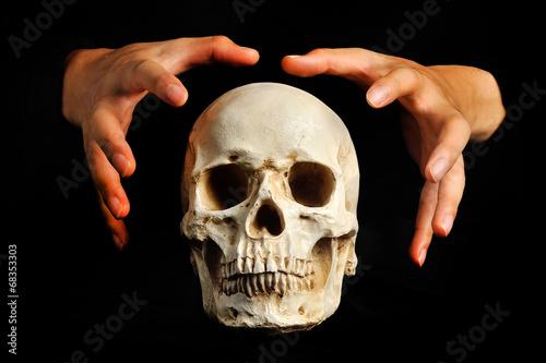 Fényképezés  ドクロと人間の手