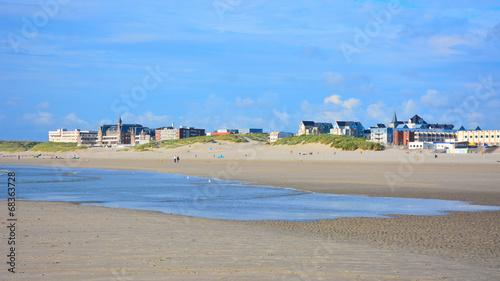 Canvas Print berck sur mer plage, pas de calais en france