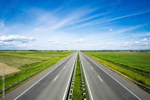 Fotografie, Obraz  Prázdná dálnice