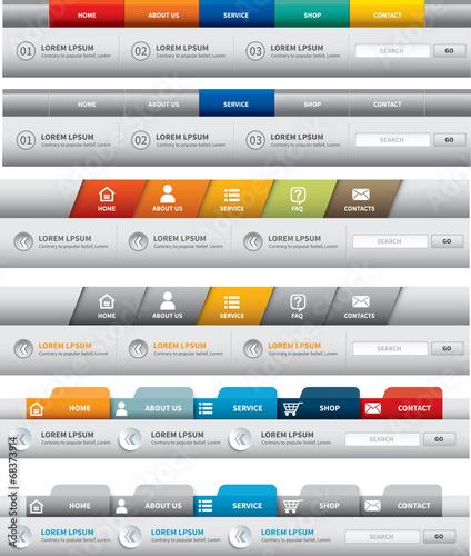 web site template. navigation element. navigation menu bar. – kaufen ...