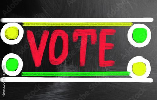 Fotografia, Obraz  vote concept