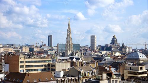 Poster Brussel Brussels skyline