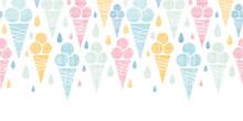 Ice Cream Cones Textile Colorf...