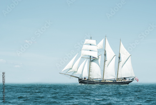 Photo Stands Ship Three mast schooner