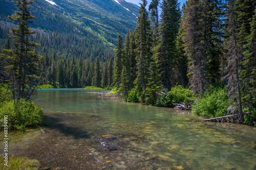 Fotografie, Obraz  peaceful stream, montana