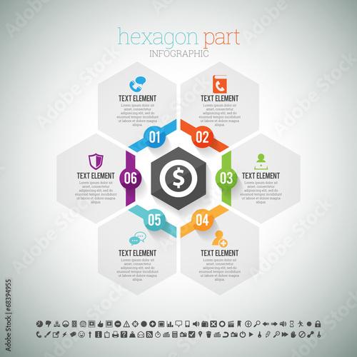 Photographie  Hexagone partie infographique
