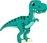 Fototapeta Dino - Tyrannosaurus cartoon