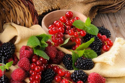 Canvastavla Frutti di bosco