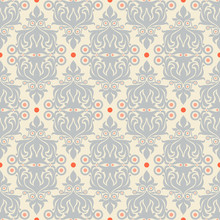 Retro Gray And Orange Pattern
