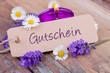 canvas print picture - Gutschein - Schild - Wellness