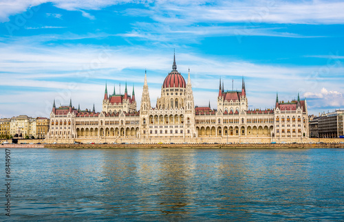 View at the parliament in Budapest