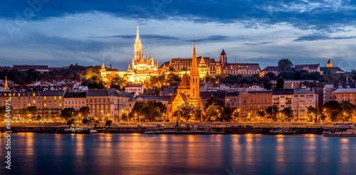fototapeta na ścianę Wieczorny widok na dzielnicy Buda w Budapeszcie