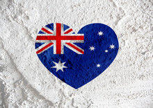 National Flag Of Australia Themes Idea Design On Wall Texture Ba