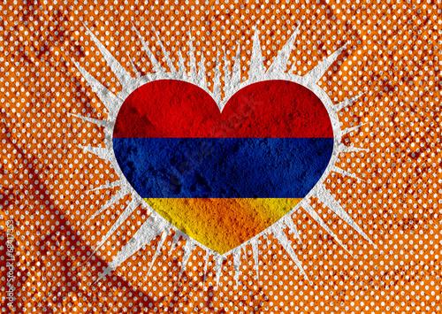 Fototapete - flag of Armenia themes design idea on wall texture background