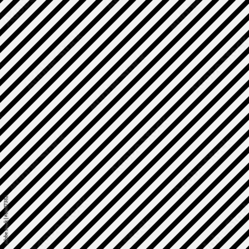 Fotografia Black and White Diagonal Striped Pattern Repeat Background