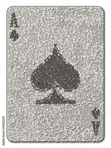 Photo  Ace of Spades Mosaic