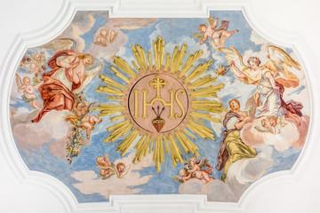 Fototapeta Do kościoła fresco angels