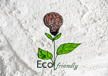 Eco Friendly Light Bulb Plant Growing Green And  Eco Energy Conc