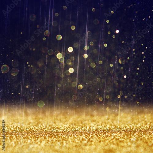 glitter vintage lights background. light gold and black. defocus Canvas Print