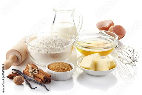 Fotografie, Obraz  Ingredients for baking cake