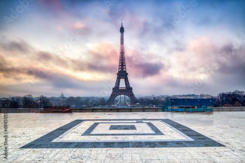 Poster Paris Place du Trocadero