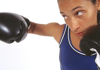 Fototapeta African woman boxing