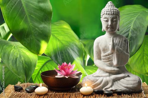 Deurstickers Boeddha Buddha in meditation