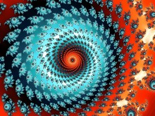 Decorative Fractal Background With Spiral