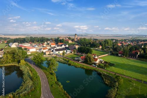 Fototapeta Dorf in Deutschland obraz na płótnie