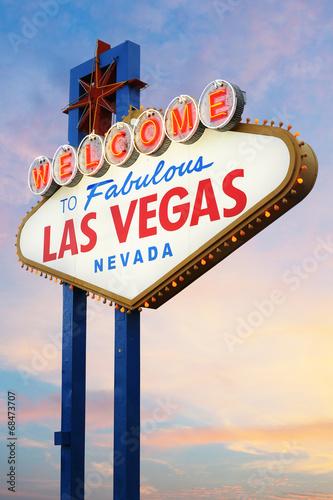 In de dag Las Vegas Welcome to Las Vegas Sign