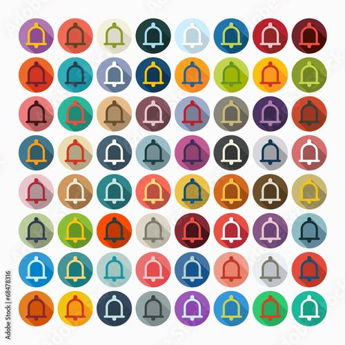 Fotobehang Pop Art Flat design: bell