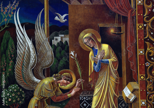Annunciation (mural) Canvas Print