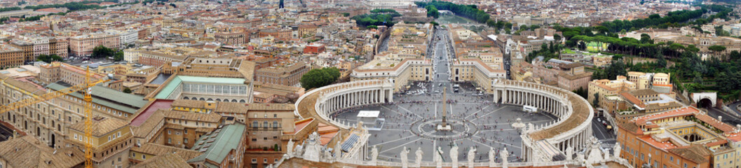Fototapeta Beautiful panorama of Vatican, Italy