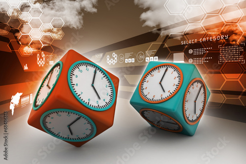 Fotografia, Obraz  3d watch in cube
