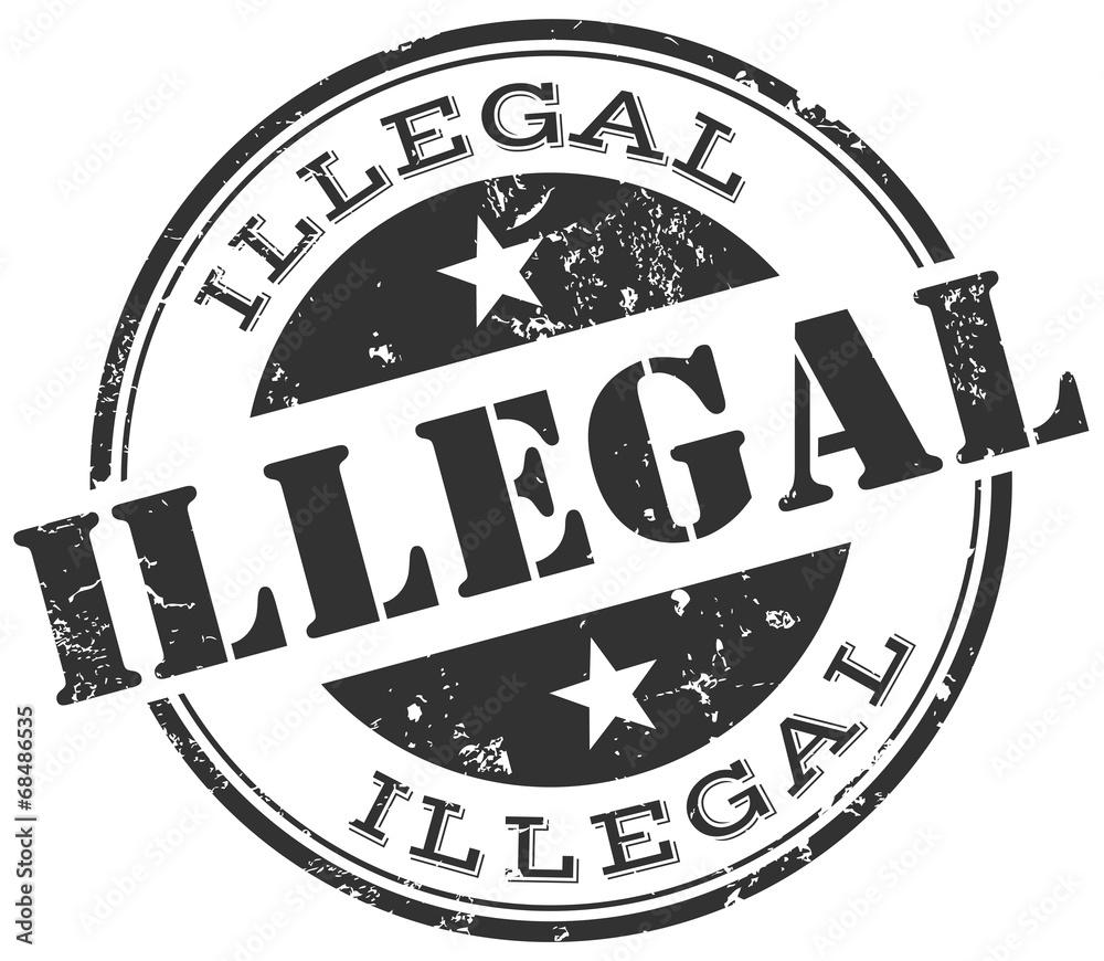 Fototapeta illegal stamp