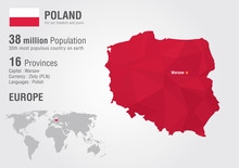 Poland World Map With A Pixel ...